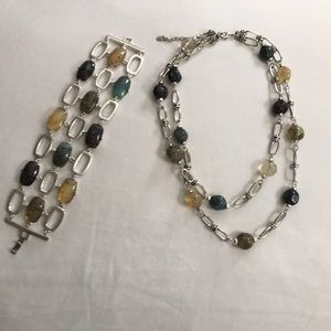 Monet bracelet and expandable necklace